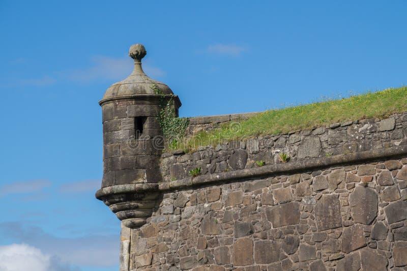 Torre dell'orologio a Stirling Castle, Scozia fotografie stock