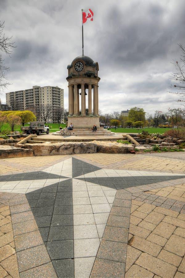 Torre dell'orologio a Victoria Park, Kitchener, Canada fotografia stock libera da diritti