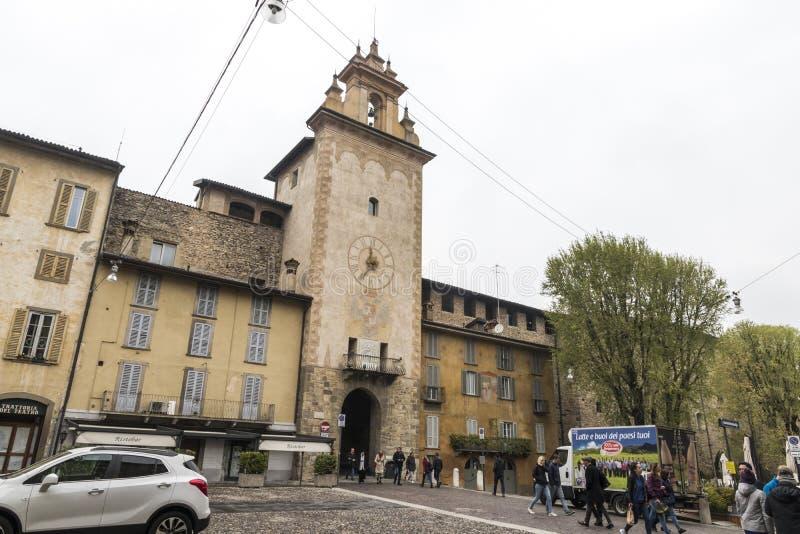 Torre della Campanella, Bergamo zdjęcia stock