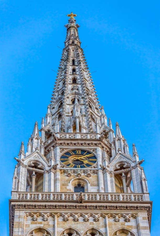 Torre della cattedrale a Zagabria immagini stock