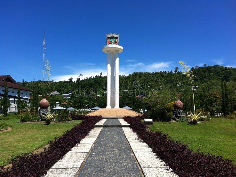 Torre della città di Masohi immagine stock