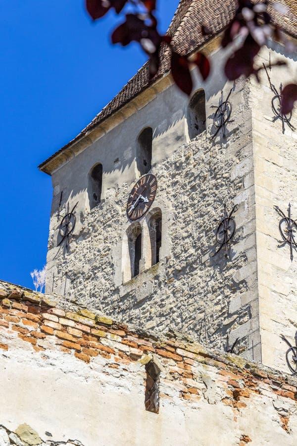 Torre della cittadella di Aiud in Romania, dettaglio fotografia stock libera da diritti