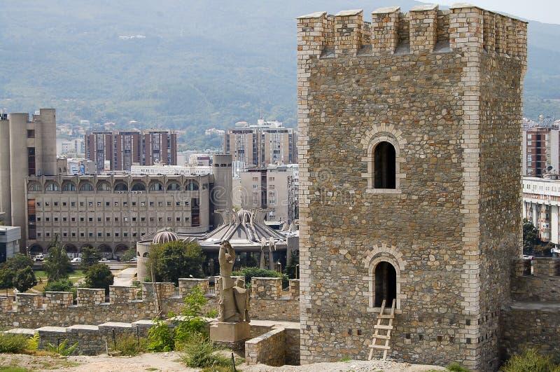 Torre della fortezza del cavolo - Skopje - Macedonia immagine stock libera da diritti