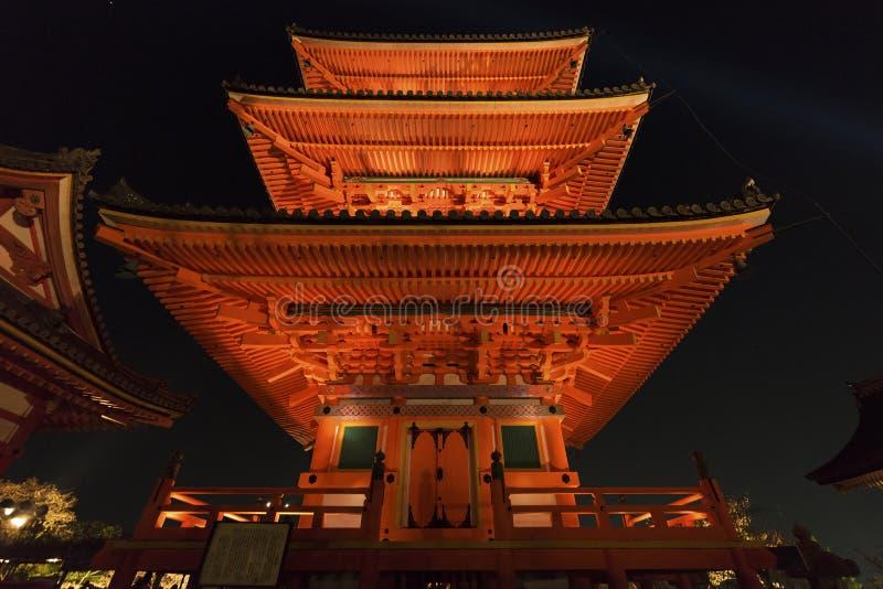 Torre della pagoda a Kyoto Giappone fotografia stock