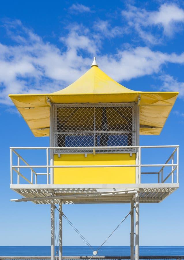 Torre della pattuglia del bagnino fotografie stock libere da diritti