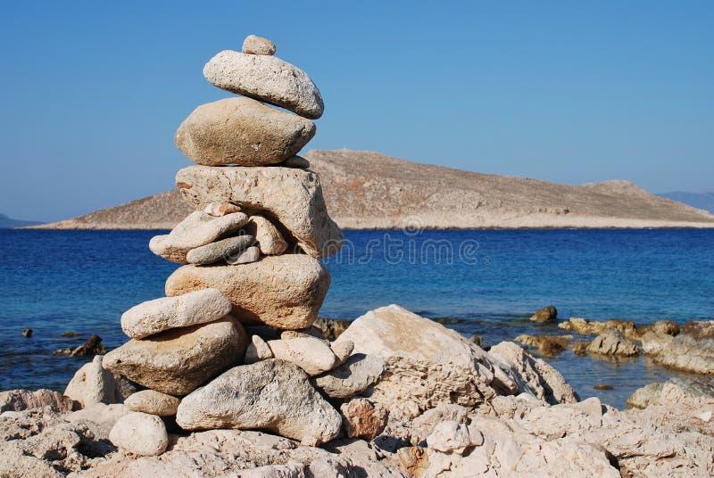 Torre della pietra di Ftenagia, Halki immagine stock libera da diritti