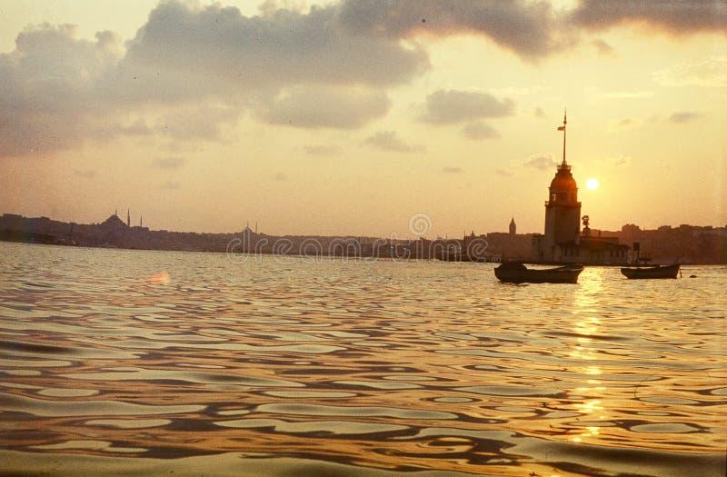 Torre della ragazza, Bosphorus Costantinopoli immagine stock libera da diritti