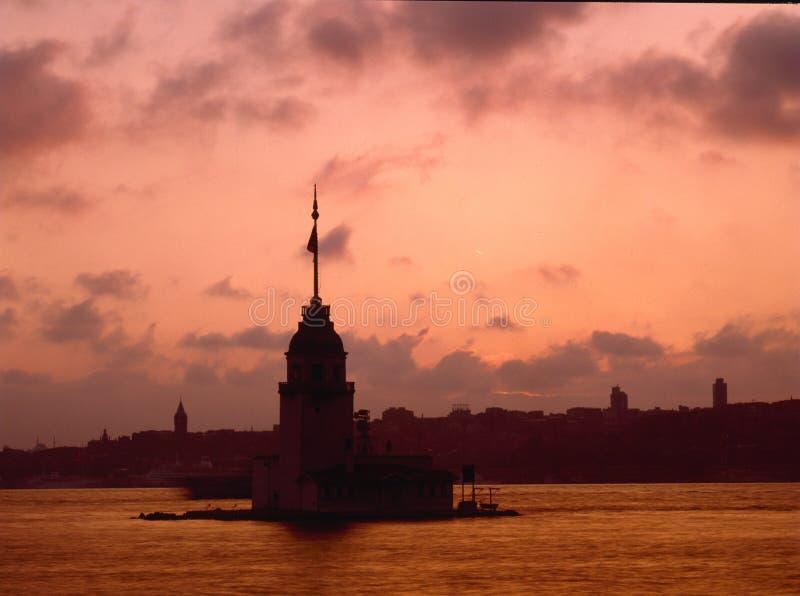Torre della ragazza, Bosphorus Costantinopoli immagine stock