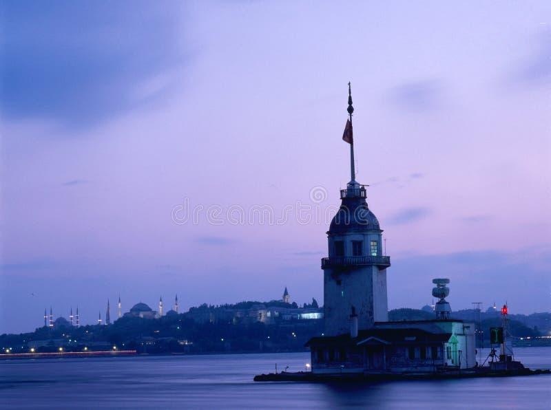 Torre della ragazza, Bosphorus Costantinopoli fotografie stock libere da diritti