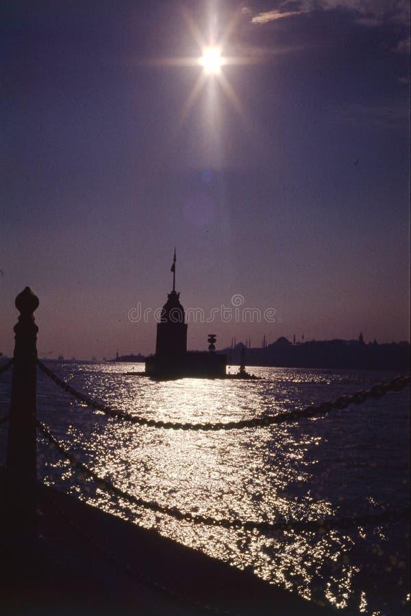 Torre della ragazza, Bosphorus Costantinopoli fotografia stock libera da diritti