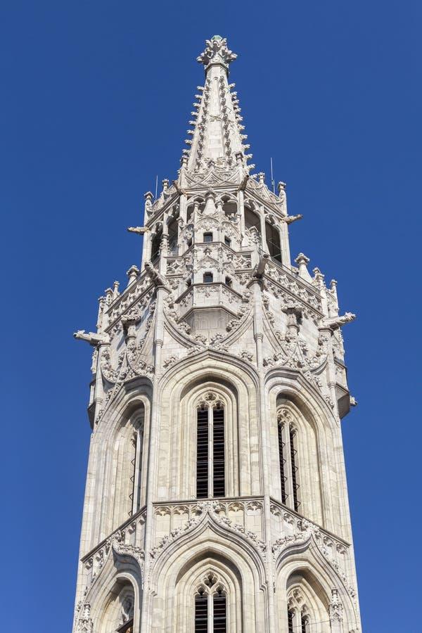 Torre della st Matthias Church a Budapest fotografia stock libera da diritti