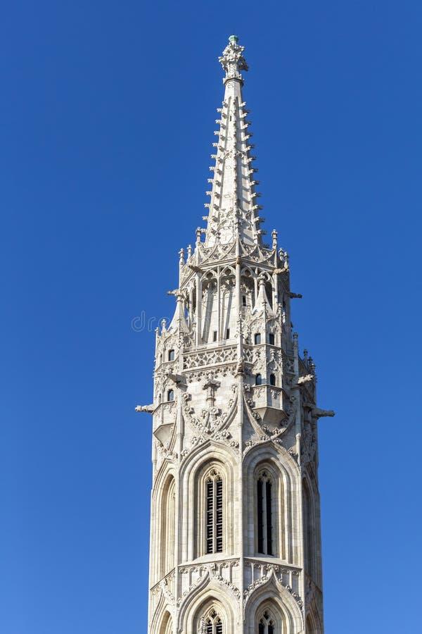 Torre della st Matthias Church a Budapest immagine stock libera da diritti