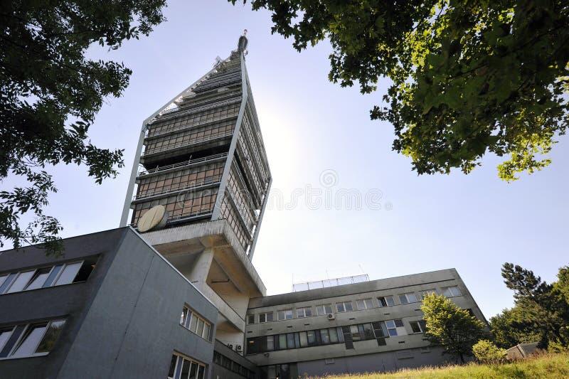 Torre della televisione a Bratislava fotografia stock libera da diritti