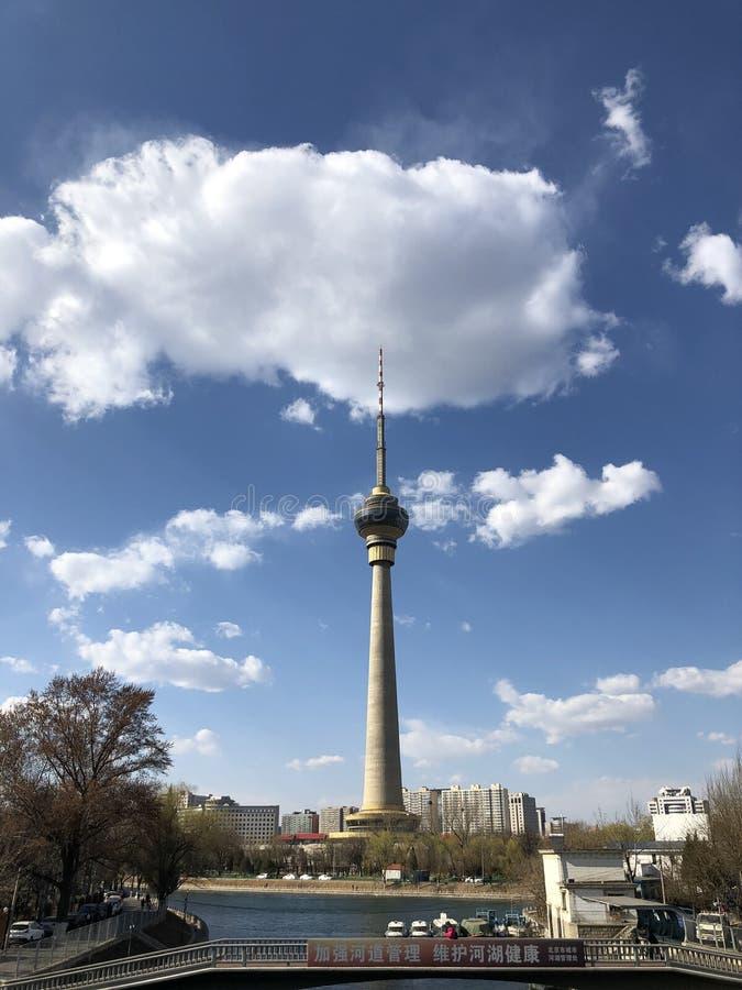Torre della televisione di Pechino immagini stock libere da diritti