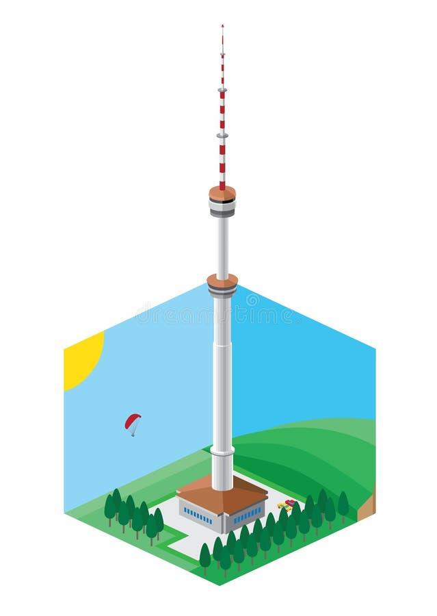 Torre della televisione nella città di Almaty immagine stock libera da diritti