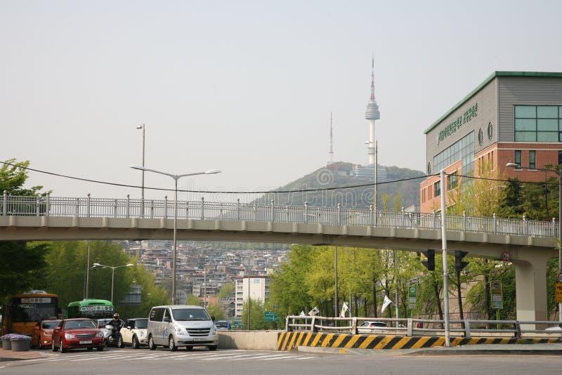 Torre della televisione Parco di Seoul Namsam korea l'asia fotografia stock libera da diritti
