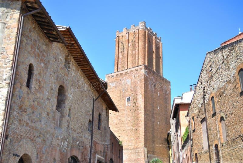 Torre delle Milizie in Rome stock foto's