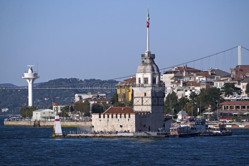 Torre delle ragazze a Costantinopoli, Turchia fotografie stock libere da diritti
