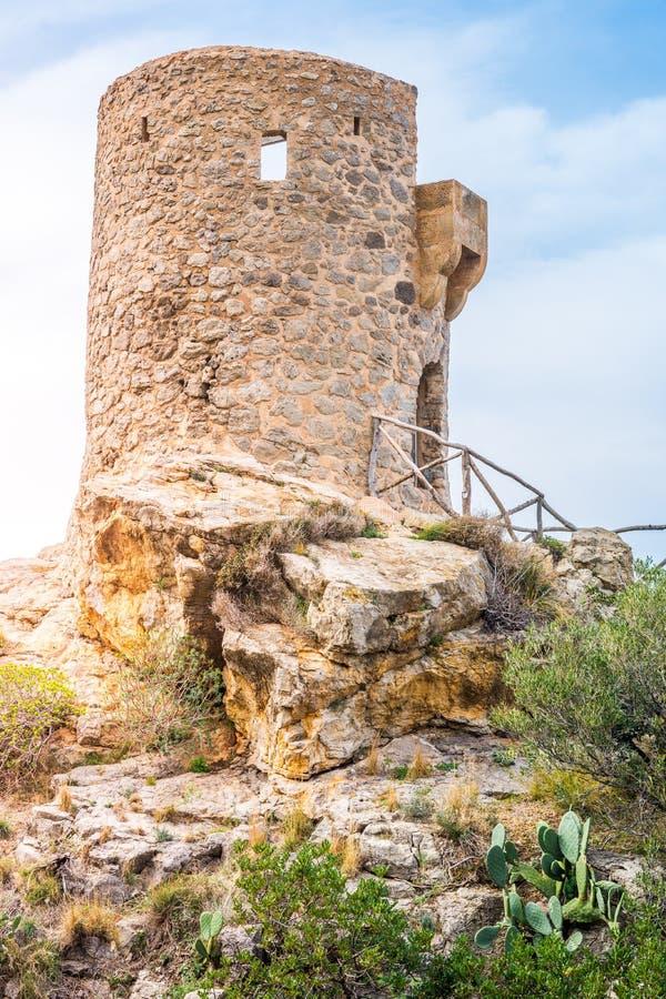 Torre des司事观点,马略卡 库存照片