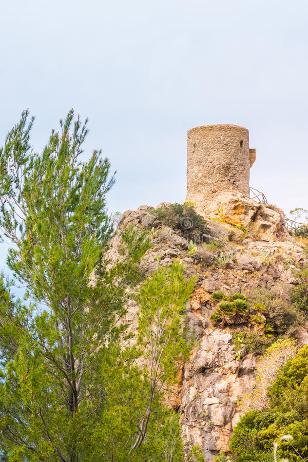 Torre des司事观点,马略卡 免版税库存照片
