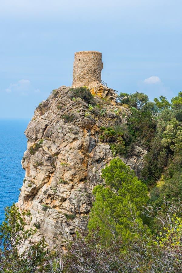 Torre des司事观点,马略卡 库存图片