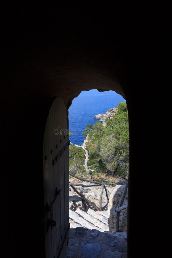 Torre des司事门在马略卡 库存照片