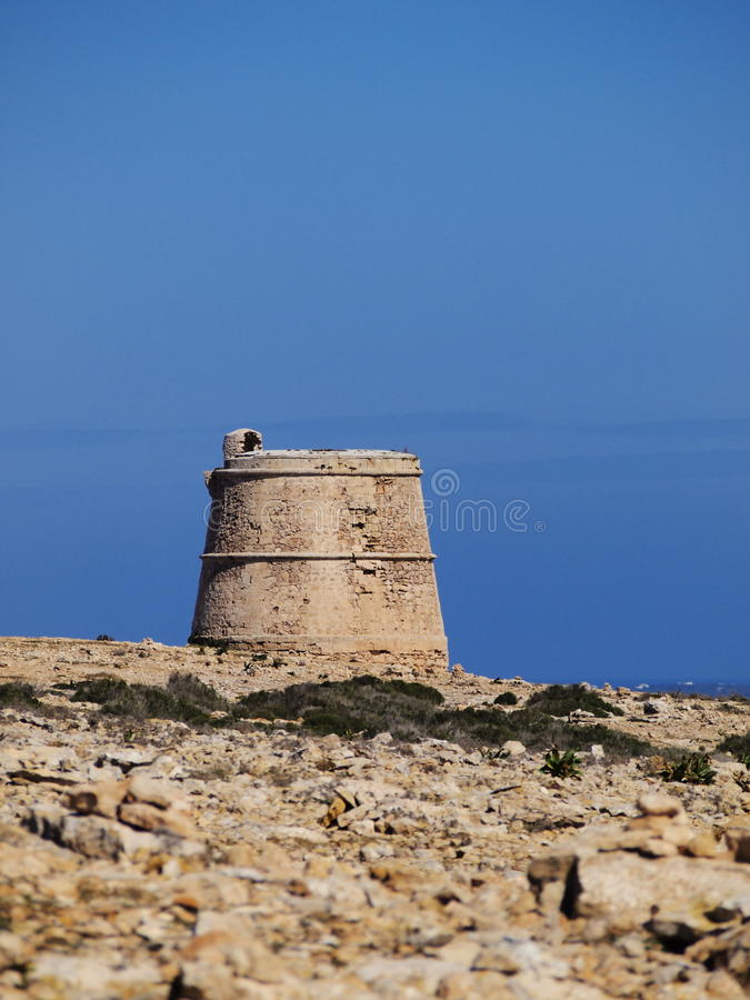 Torre des Garroveret, Formentera. Torre des Garroveret - one of the towers on Formentera, Balearic Islands, Spain stock photos