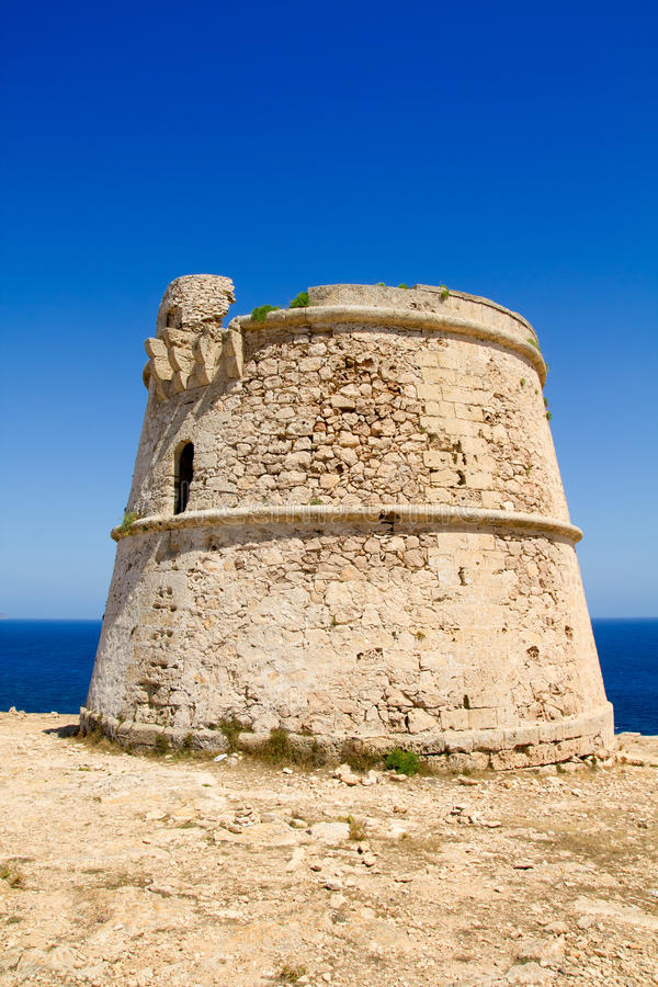 Torre des Garrovet in Babaria Cape Formentera. Torre des Garrovet tower in Babaria Cape Formentera balearic island royalty free stock images