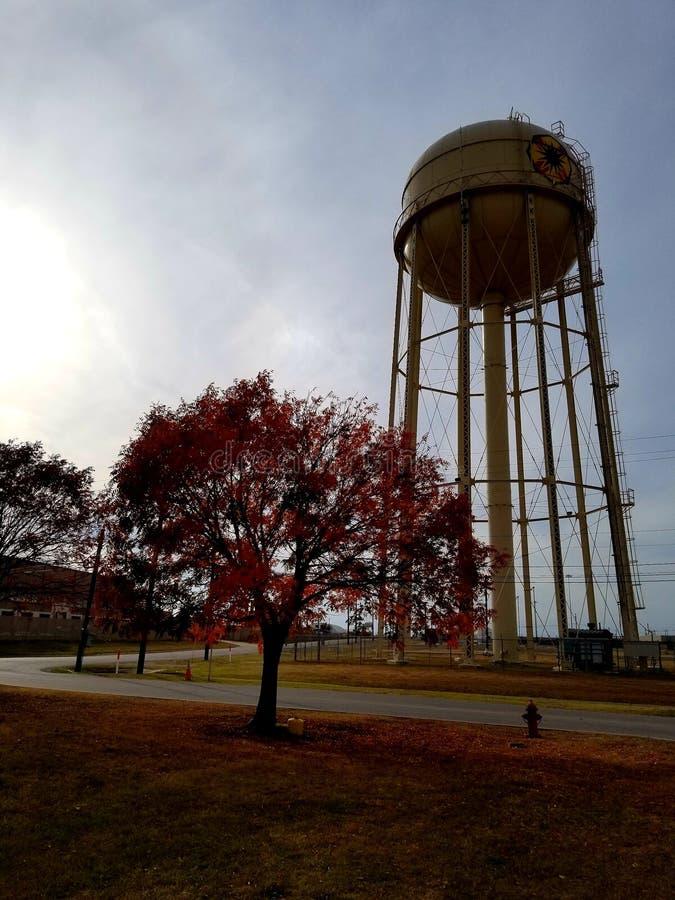 Torre di acqua a Fort Hood fotografie stock libere da diritti