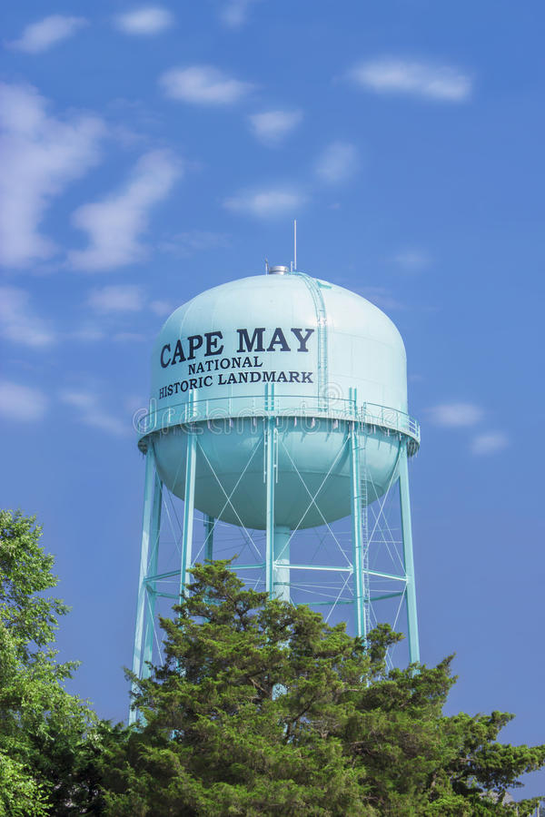 Torre di acqua, località di soggiorno del mare di Cape May, New Jersey, U.S.A. immagine stock