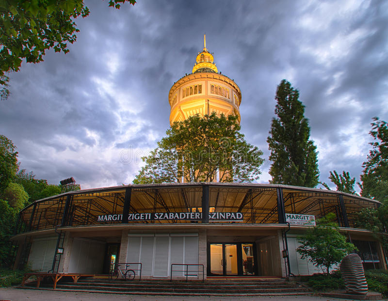 Torre di acqua in Margaret Island, Budapest fotografia stock libera da diritti