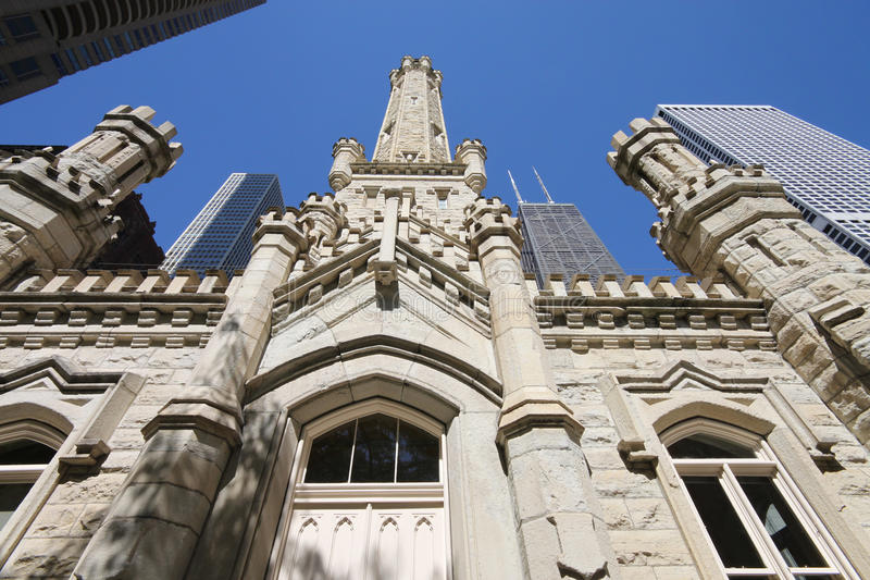 Torre di acqua storica di Chicago fotografie stock libere da diritti