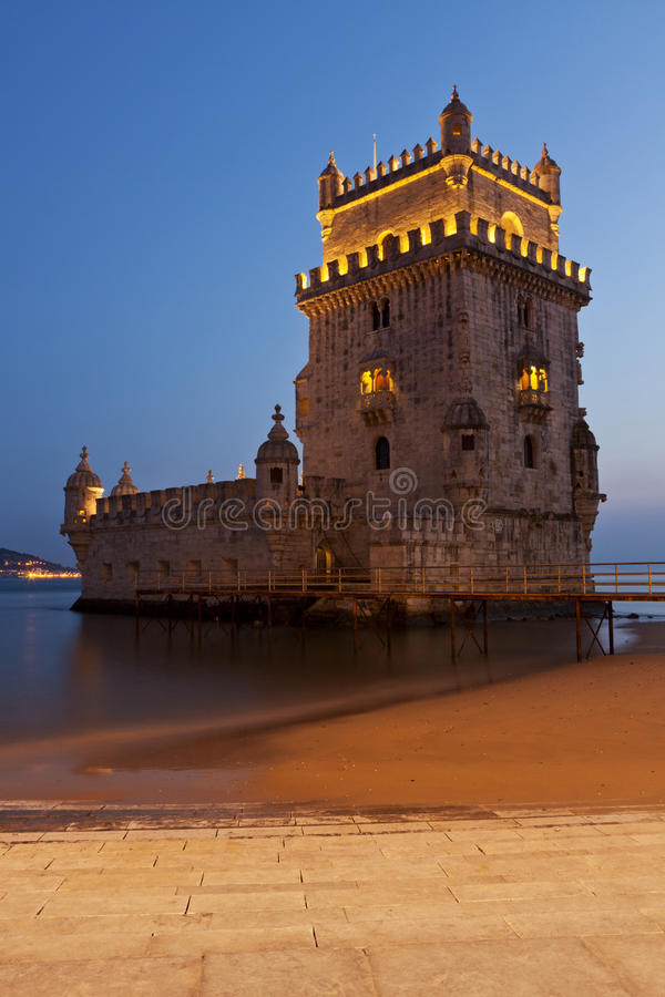 Torre di Belem, Lisbona, Portogallo fotografia stock