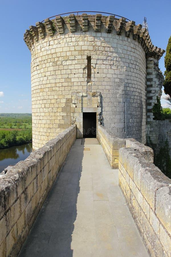 Torre di Boissy Fortezza Chinon france immagine stock