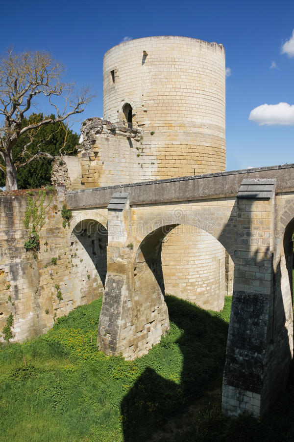 Torre di Boissy Fortezza Chinon france immagini stock