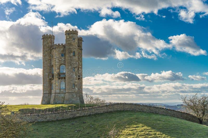 Torre di Broadway, Cotswolds, Worcestershire, Regno Unito fotografia stock