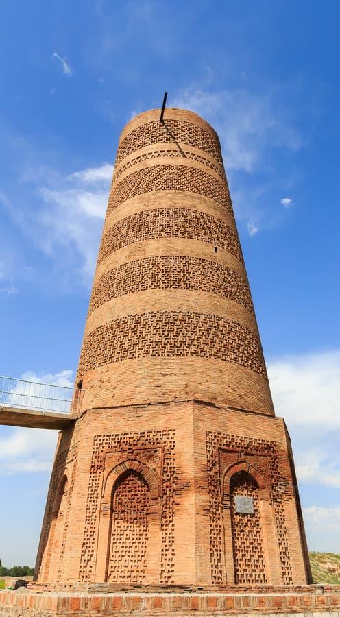 Torre di Burana Un monumento architettonico del secolo XI Kyrgy fotografia stock libera da diritti