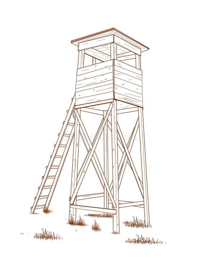 Torre di caccia. illustrazione di stock