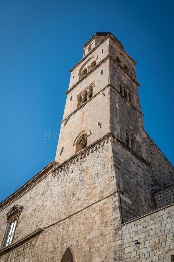 Torre di chiesa domenicana in Ragusa immagini stock libere da diritti