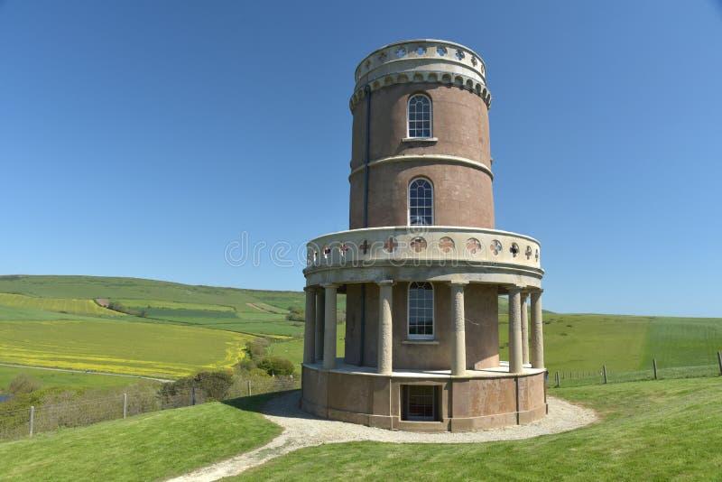 Torre di Clavell, baia di Kimmeridge immagini stock