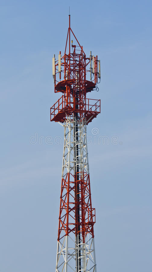 Torre di comunicazioni in Tailandia fotografia stock