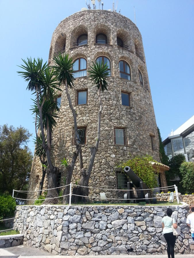 Torre di controllo, Puerto Banus fotografie stock