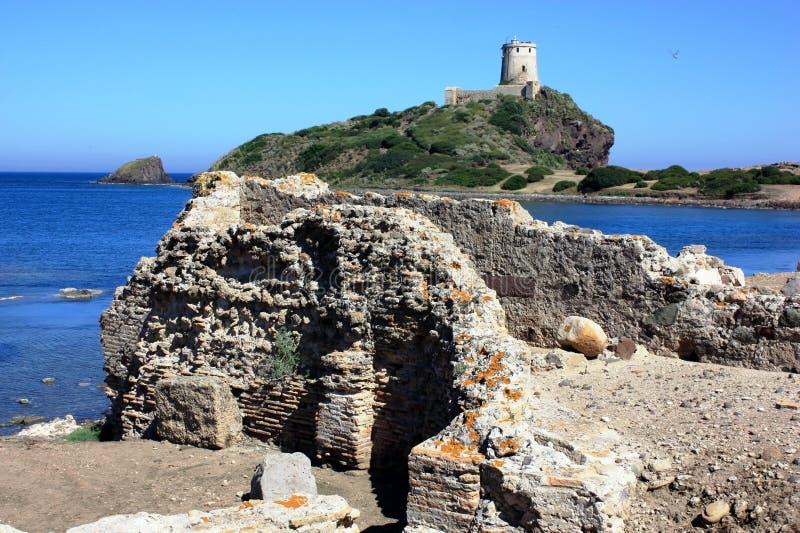 Torre di Cortellazzo a Nora fotografie stock