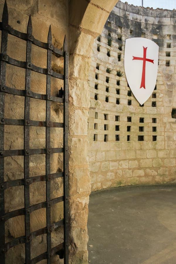 Torre di Coudray Fortezza Chinon france fotografie stock libere da diritti