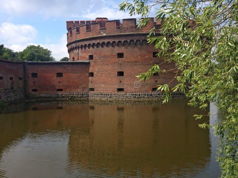 Torre di Dohna, Kaliningrad, Russia fotografie stock