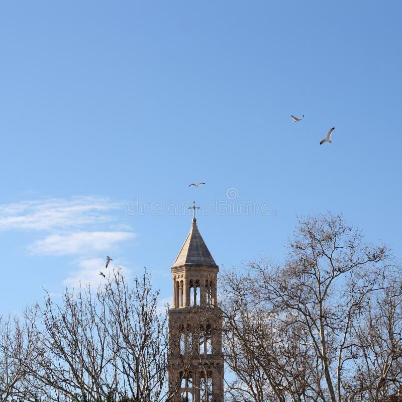 Torre di Domnius del san, spaccatura immagini stock libere da diritti