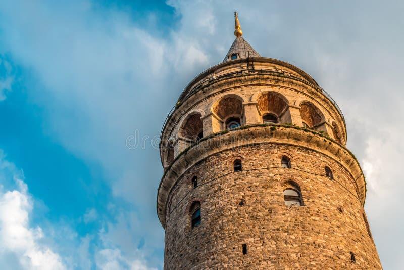 Torre di Galata, Costantinopoli, Turchia fotografia stock libera da diritti