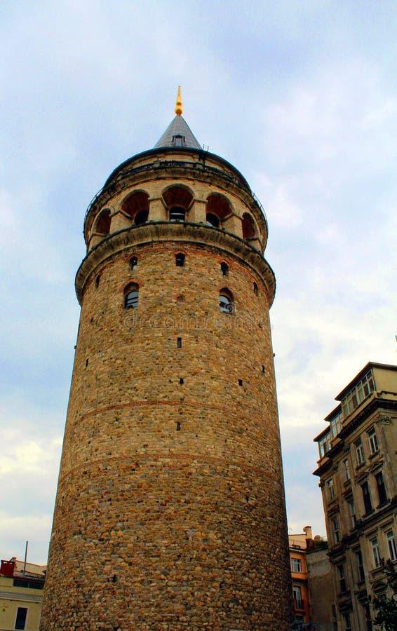 Torre di Galata da Costantinopoli Turchia fotografie stock libere da diritti