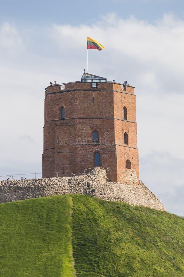 Torre di Gediminas - il simbolo dello stato lituano fotografia stock