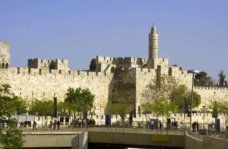 Torre di Gerusalemme di vecchie rovine di Zion Israel del supporto della città di David immagini stock libere da diritti